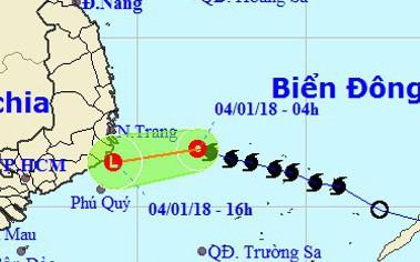 Bão Bolaven đã suy yếu thành áp thấp nhiệt đới