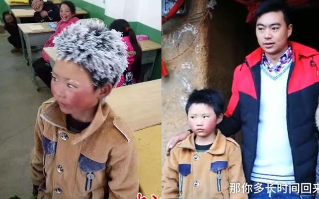 Tâm sự của cha cậu bé tóc đông đá đi bộ 5 km tới trường dưới thời tiết -9 độ C: Tôi chỉ mong con tiếp tục học hành