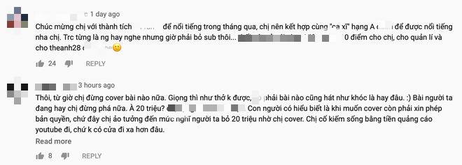 Hệ quả giáng xuống Hương Ly sau loạt scandal, clip cover mới nhất không đạt nổi 1 triệu view sau 5 ngày và ngập trong bình luận chỉ trích - Ảnh 6.