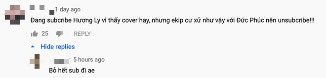 Hệ quả giáng xuống Hương Ly sau loạt scandal, clip cover mới nhất không đạt nổi 1 triệu view sau 5 ngày và ngập trong bình luận chỉ trích - Ảnh 7.