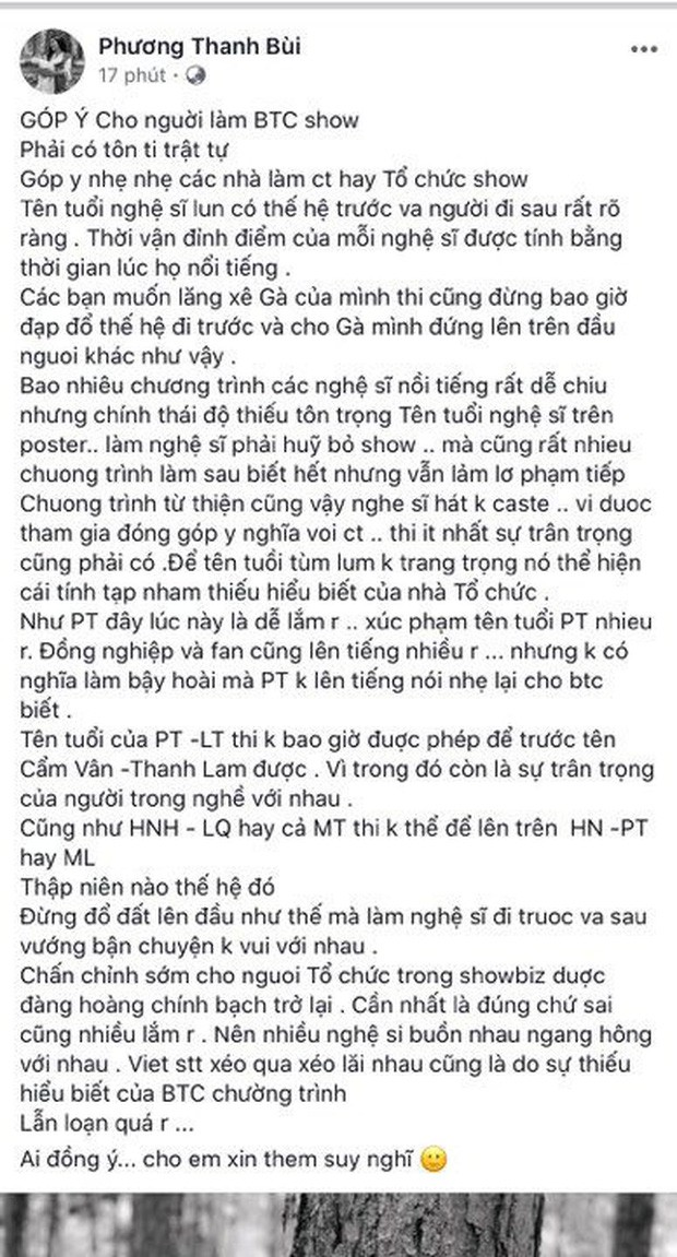 Phương Thanh phân bì phải đứng trên Hà Hồ, Mỹ Tâm, đạo diễn Việt Tú chỉ rõ cách phân mâm chuẩn trên poster trong Vbiz - Ảnh 1.