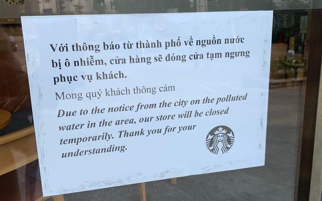 8/18 cửa hàng Starbucks ở Hà Nội đóng cửa vì ô nhiễm nguồn nước - ảnh 4