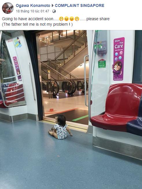 Để con nhỏ chơi cạnh cửa tàu điện ngầm, ông bố bị dân mạng ném đá dữ dội nhưng cách đáp trả còn gây phẫn nộ hơn - ảnh 1