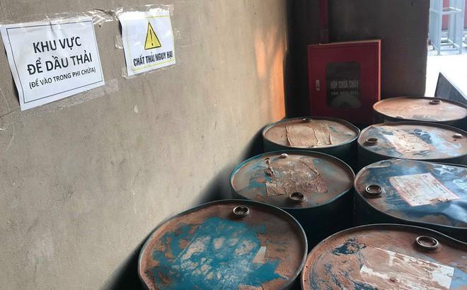 Cận cảnh nơi lưu giữ dầu thải bị tuồn ra đầu độc nước sông Đà của Công ty gốm sứ Thanh Hà - ảnh 1