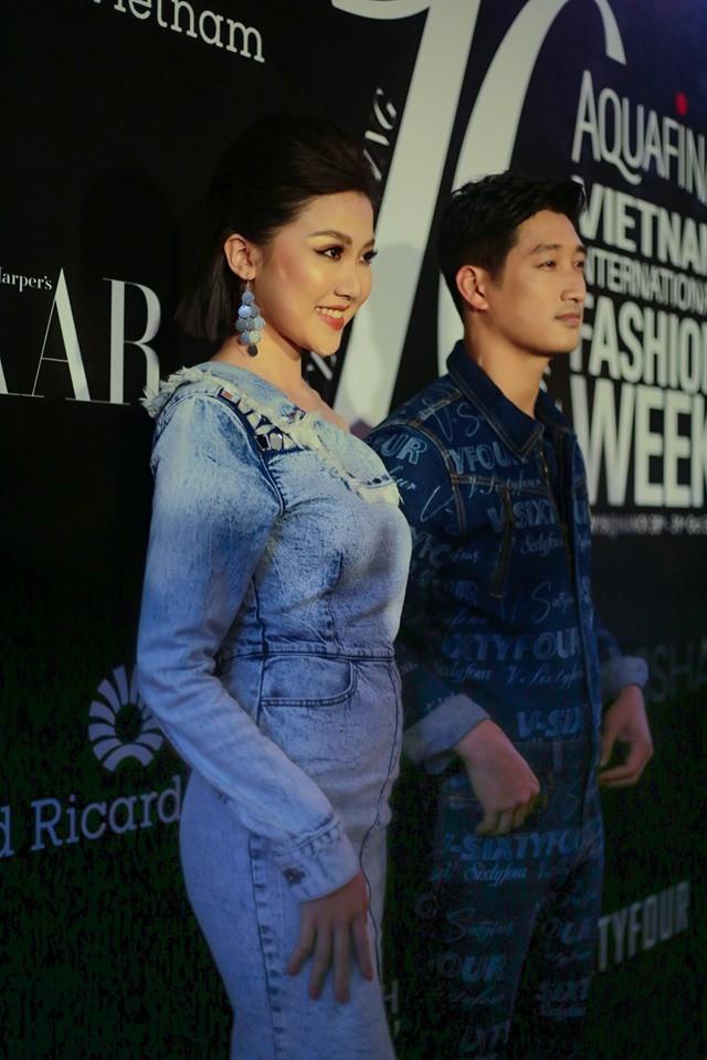 Nhìn trang phục dự sự kiện thời trang của Lương Thanh - Ngọc Quỳnh, ai không biết lại tưởng bị lạc vào thảm đỏ những năm ơ kìa - ảnh 2