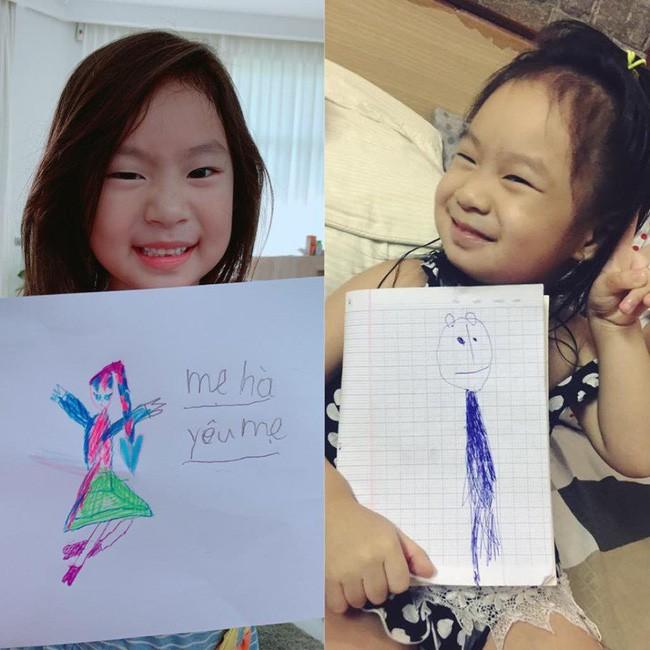 Bà xã Lý Hải dậy thì thành công trong tranh vẽ của con gái, nhưng khả năng viết chữ của Cherry cùng lời nhắn ngọt ngào mới bất ngờ - ảnh 2