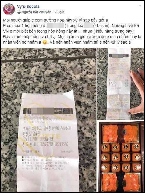 Cô nàng xây xẩm mặt mày khi phát hiện mình mua hộp hồng dẻo... bằng nhựa trị giá 1,6 triệu sau chuyến du lịch Hàn Quốc - ảnh 1
