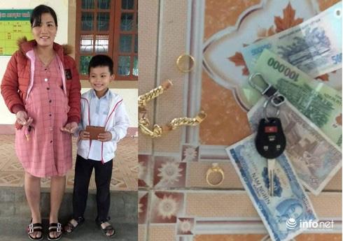 Hà Tĩnh: Nhặt được tiền, trang sức trị giá 20 triệu, HS lớp 3 tìm người trả lại - ảnh 1