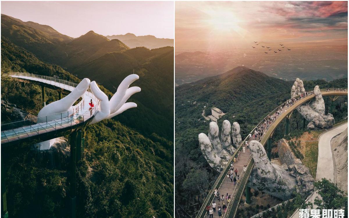 """Cận cảnh loạt ảnh sống ảo tại công trình Trung Quốc từng được cho là """"nhái"""" Cầu Vàng Việt Nam, liệu """"có cửa"""" để so sánh?"""