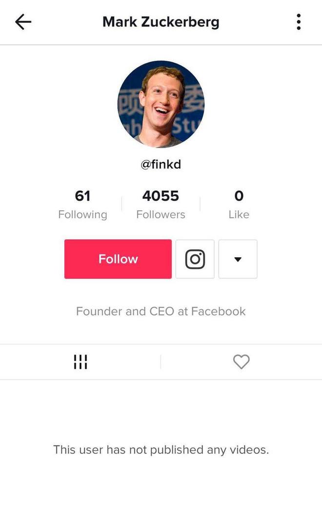Phát hiện Mark Zuckerberg bí mật chơi TikTok, chuyên theo dõi người nổi tiếng và các boss chó cưng - ảnh 1
