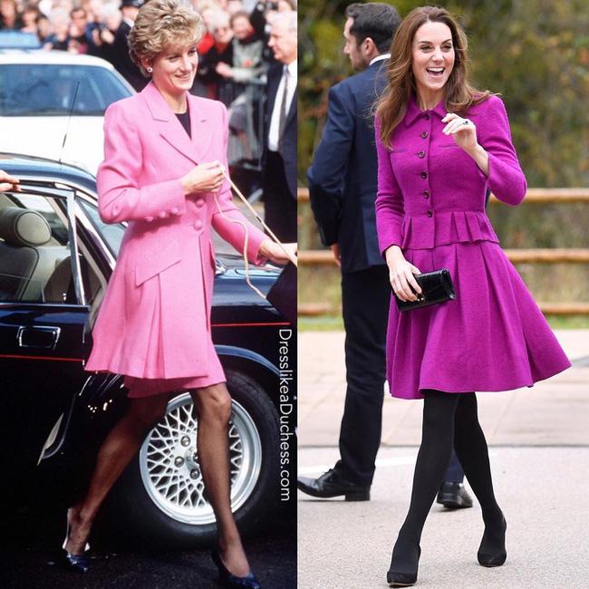 Diện đồ tím chuẩn trend, Công nương Kate lại khiến dân tình nhớ đến hình ảnh của mẹ chồng Diana - ảnh 3