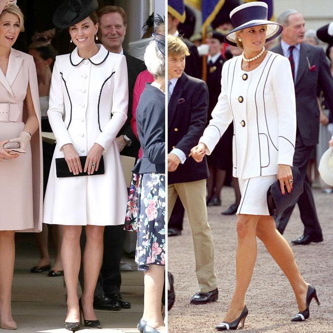 Diện đồ tím chuẩn trend, Công nương Kate lại khiến dân tình nhớ đến hình ảnh của mẹ chồng Diana - ảnh 8