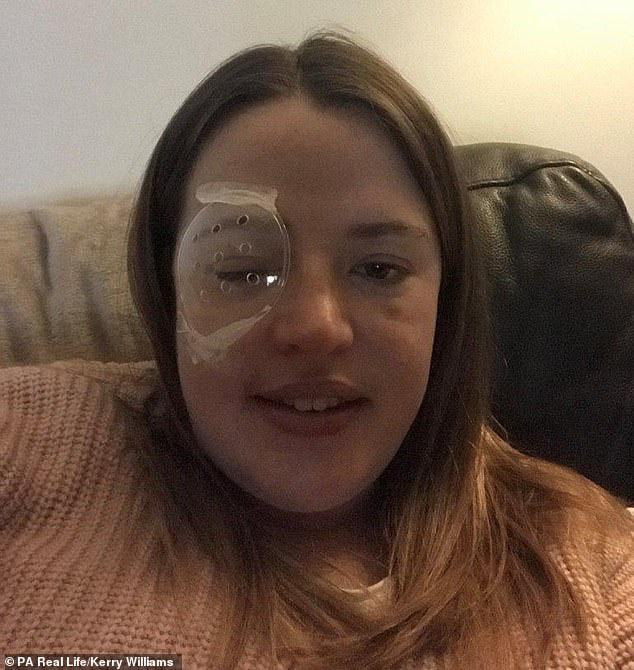 Thấy nhiều đốm trắng nhấp nháy trong phòng ngủ, cô gái người Anh đi khám và không ngờ mình đã bị ung thư mắt - ảnh 2