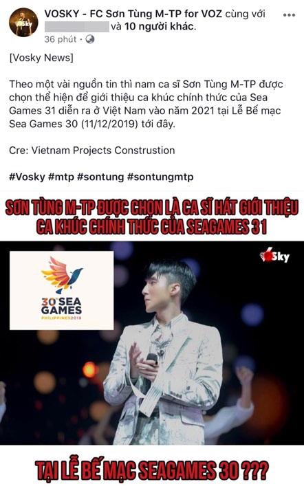 Chuyện xôn xao lúc nửa đêm: Sơn Tùng M-TP là người được chọn thể hiện ca khúc chủ đề SEA Games 31 tại Việt Nam? - ảnh 2