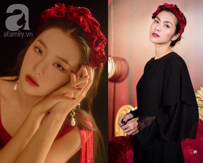 """Cùng diện bờm nhung đỏ: Seulgi lộng lẫy như công chúa Hoàng gia, Hà Tăng biến hóa cực """"nuột"""" - ảnh 7"""