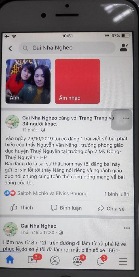 Bêu xấu Trưởng phòng giáo dục huyện, nữ chủ tài khoản Facebook bị phạt 5 triệu - ảnh 2