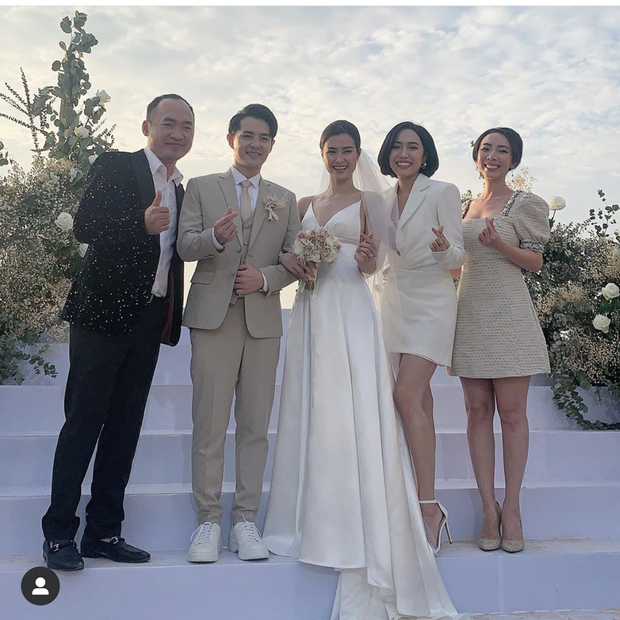 Khách mời nữ đám cưới Đông Nhi lên đồ đúng chuẩn dress code nhưng lại chật vật vì cát, Diệu Nhi còn tháo cả giày cao gót để đi tông cho tiện - ảnh 3