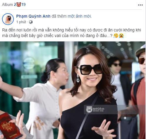 Phạm Quỳnh Anh bất ngờ bị thất lạc vali đồ khi tới dự siêu đám cưới Đông Nhi - Ông Cao Thắng - ảnh 1