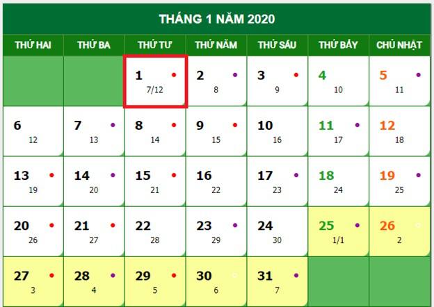 Tết Dương lịch 2020 được nghỉ mấy ngày? - Ảnh 1.