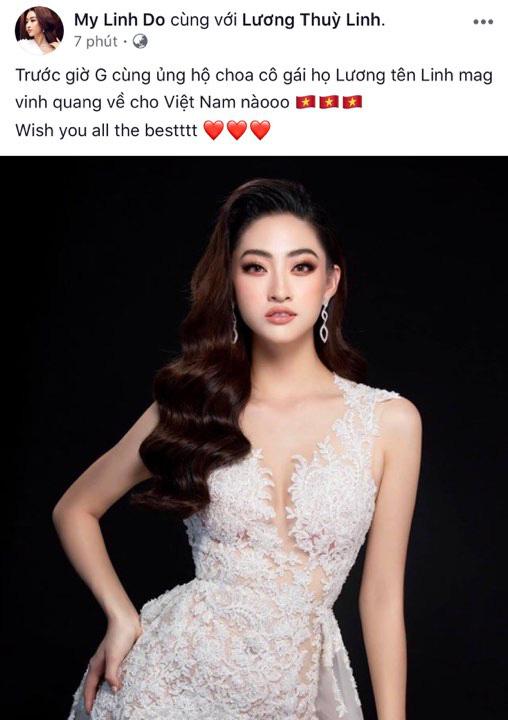 Đỗ Mỹ Linh cổ vũ đại diện Việt Nam trước giờ G chung kết Miss World 2019: Cố lên nhé Lương Thùy Linh! - ảnh 1