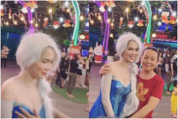 Hoá Elsa gây chú ý giữa phố, Ngọc Trinh bất ngờ bị khán giả nữ chạm tay vào vòng một! - ảnh 1