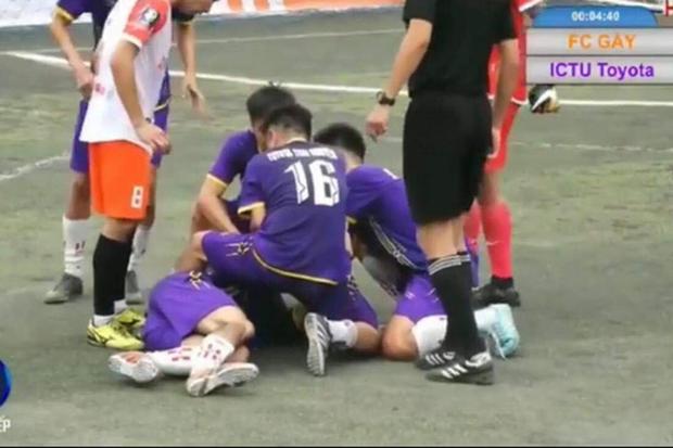 Cầu thủ bóng đá bị giẫm lên mặt đến co giật, bất tỉnh: Tôi không muốn làm lớn chuyện - Ảnh 3.
