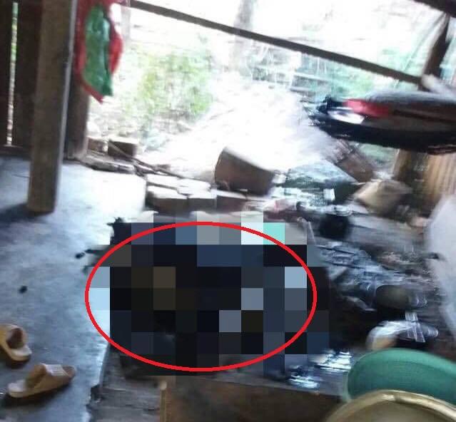 Người phụ nữ chết cháy thương tâm vì quấn chăn ngủ cạnh bếp lửa - ảnh 1