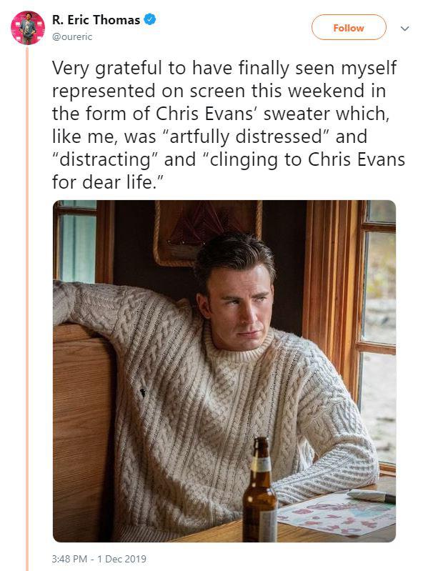 Không chỉ phát điên vì Chris Evan quá đẹp trai, dân tình còn nháo nhác vì chiếc áo len hoàn hảo anh diện trong Knives Out - ảnh 6