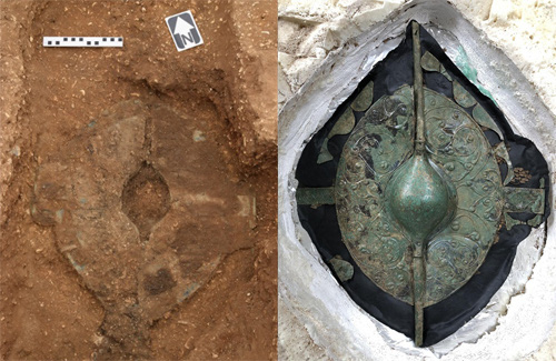 Phát hiện mộ cổ 2000 năm tuổi chứa hài cốt chiến binh thời Đồ Sắt, bên trong chứa tấm khiên có giá trị đến không ngờ - ảnh 2