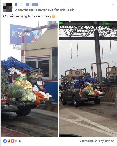 Hình ảnh chuyến xe chở cả quê hương quay lại Thủ đô sau kỉ nghỉ Tết Nguyên đán khiến nhiều người bật cười - Ảnh 1.
