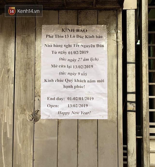 Hết Tết rồi mà vẫn còn nhiều quán xá ở Hà Nội chưa mở bán trở lại, có nơi nghỉ đến tận đầu tháng 3 - Ảnh 19.