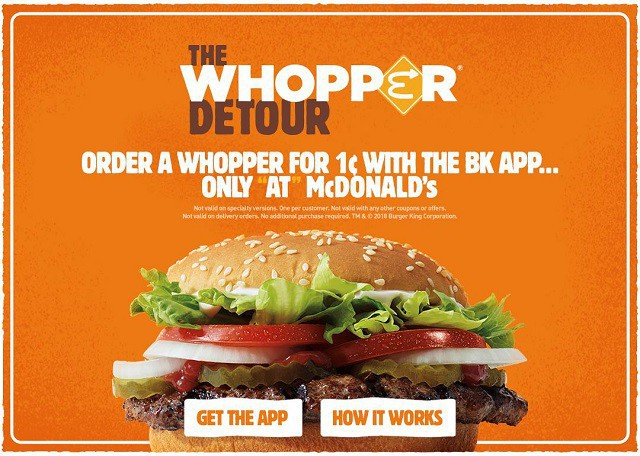 """Chiến dịch """"troll"""" đối thủ của Burger King: Biến 14.000 cửa hàng McDonald's thành điểm đặt món giảm giá - ảnh 3"""