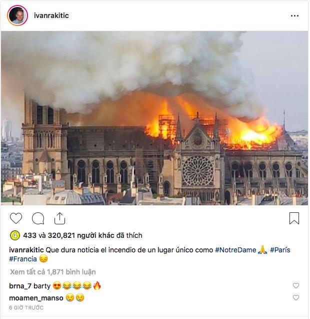 Hàng loạt ngôi sao bóng đá nuối tiếc vì nhà thờ Đức Bà, biểu tượng của thủ đô Paris bị lửa tàn phá - Ảnh 4.