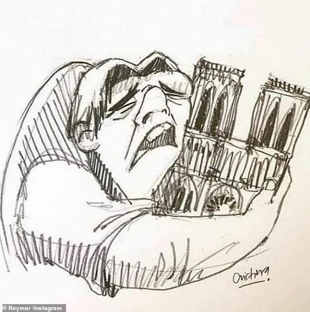 Hàng loạt ngôi sao bóng đá nuối tiếc vì nhà thờ Đức Bà, biểu tượng của thủ đô Paris bị lửa tàn phá - Ảnh 2.