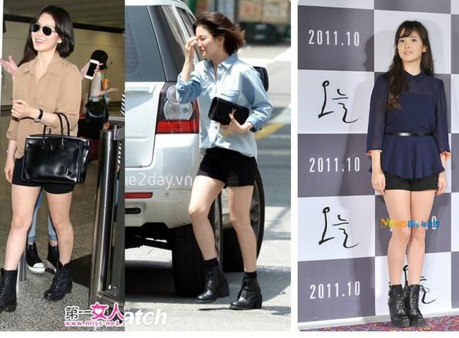 Dù diện đồ kín mít nhưng Song Hye Kyo vẫn lộ nhược điểm này khi diện đồ - ảnh 3