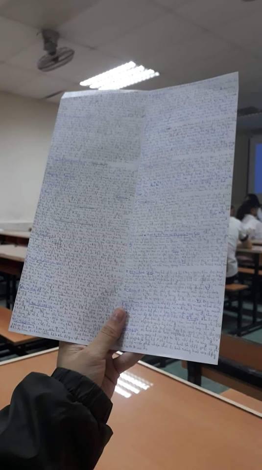 Giáo viên cho mang 1 tờ giấy ghi kiến thức vào phòng thi, sinh viên chép sương sương cũng được cả quyển sách! - ảnh 8