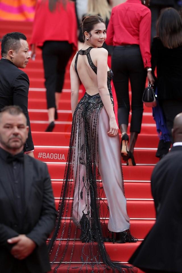 Ngọc Trinh ở Cannes mặc đồ lồ lộ quá, cư dân mạng đã nhanh chóng tân trang giải cứu ngay rồi đây - Ảnh 1.