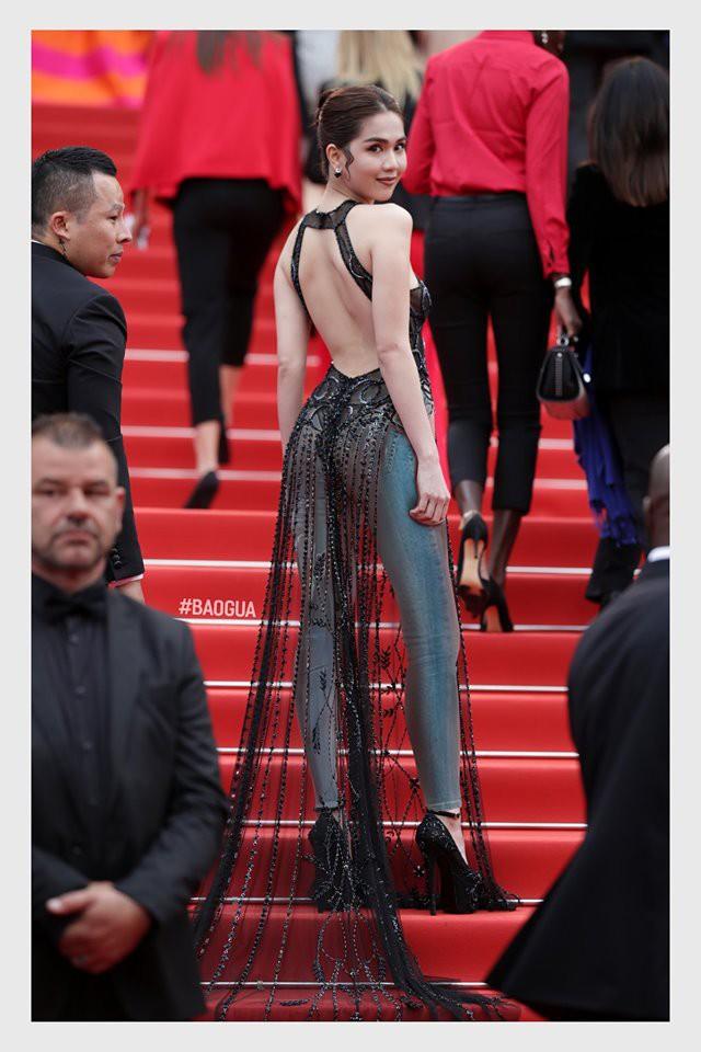 Ngọc Trinh ở Cannes mặc đồ lồ lộ quá, cư dân mạng đã nhanh chóng tân trang giải cứu ngay rồi đây - Ảnh 3.