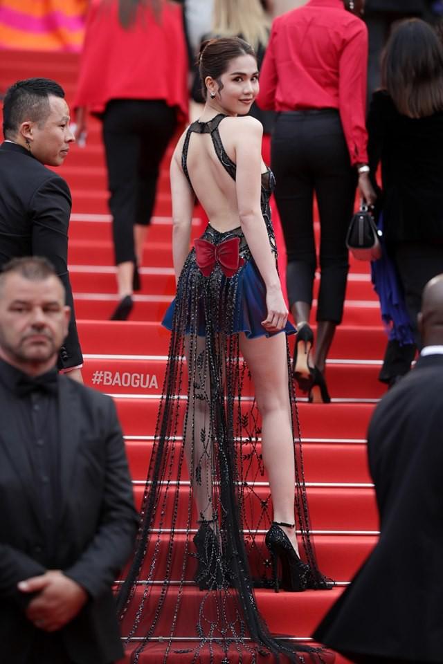 Ngọc Trinh ở Cannes mặc đồ lồ lộ quá, cư dân mạng đã nhanh chóng tân trang giải cứu ngay rồi đây - Ảnh 4.