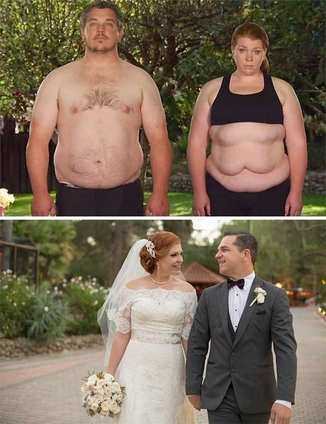 Những màn lột xác vịt hóa thiên nga của các cặp đôi chứng minh chân lý đồng vợ đồng chồng béo đến mấy cũng giảm cân thành công - ảnh 2