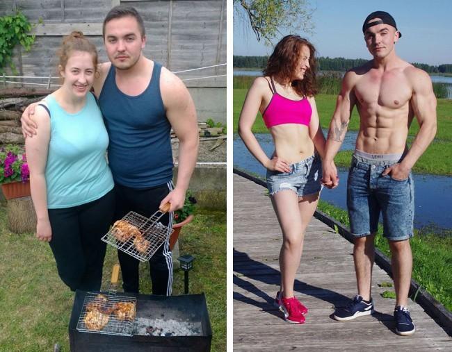 Những màn lột xác vịt hóa thiên nga của các cặp đôi chứng minh chân lý đồng vợ đồng chồng béo đến mấy cũng giảm cân thành công - ảnh 13
