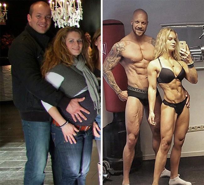 Những màn lột xác vịt hóa thiên nga của các cặp đôi chứng minh chân lý đồng vợ đồng chồng béo đến mấy cũng giảm cân thành công - ảnh 17