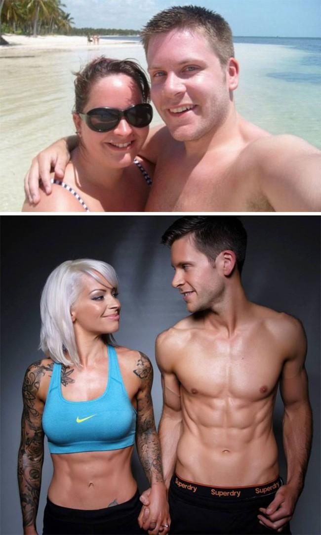 Những màn lột xác vịt hóa thiên nga của các cặp đôi chứng minh chân lý đồng vợ đồng chồng béo đến mấy cũng giảm cân thành công - ảnh 4