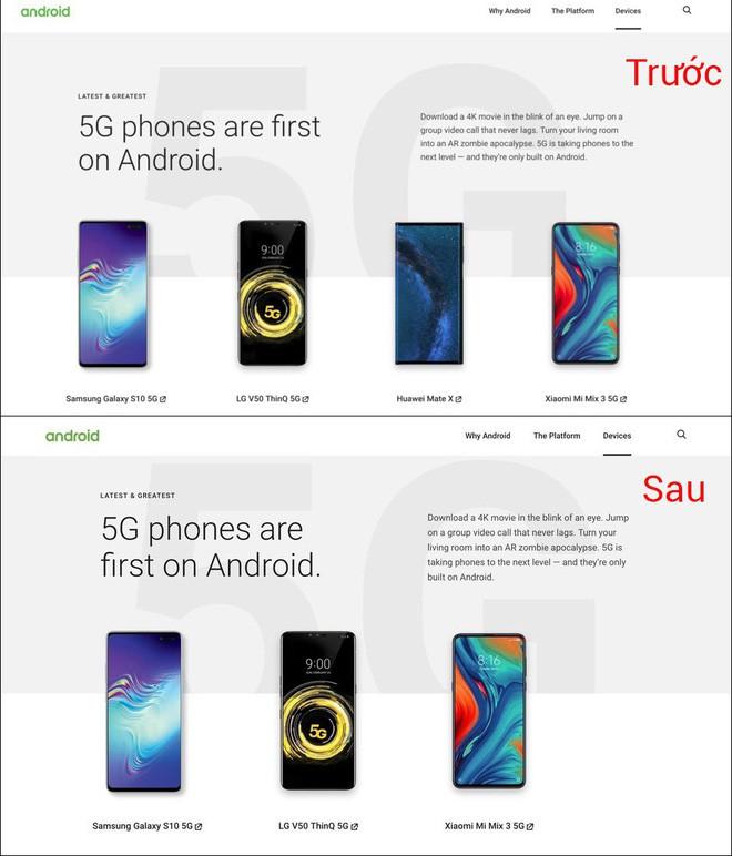 Chốt hạ: Google xóa tên Huawei khỏi website chính thức của Android - ảnh 1