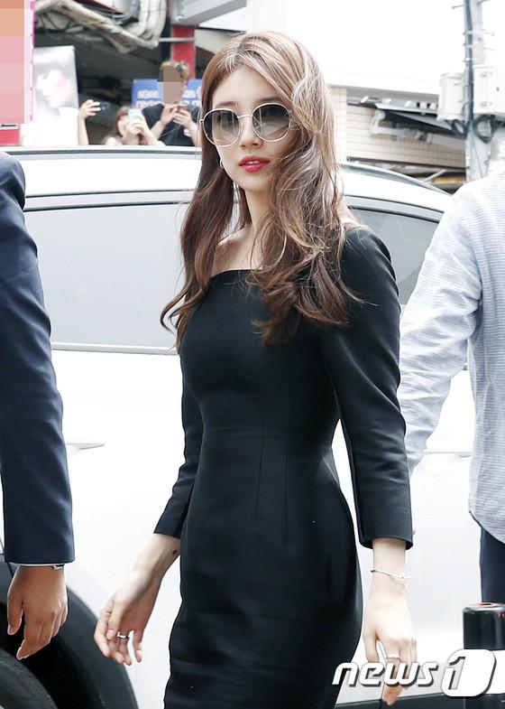 Nữ thần sắc đẹp Suzy gây náo loạn khu phố Hàn vì đẹp lồng lộn, được dàn vệ sĩ hộ tống như bà hoàng tại sự kiện - ảnh 3