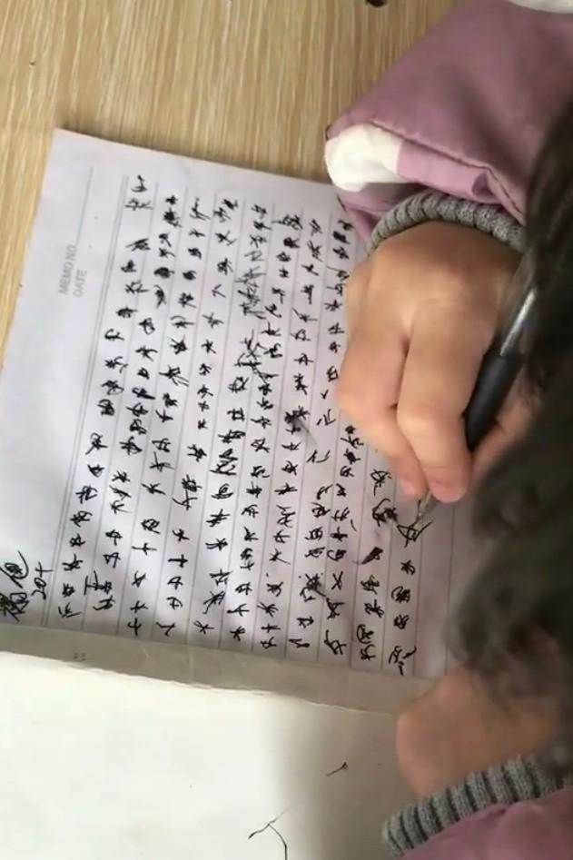 Học sinh tập viết như ngôn ngữ ngoài hành tinh khiến cô giáo hoang mang cảm thấy như mình bị mù chữ - ảnh 3
