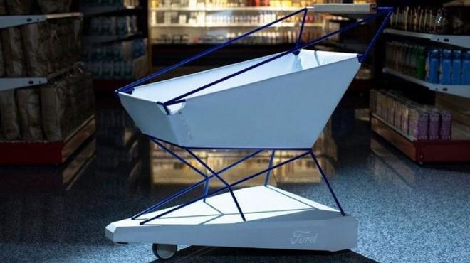 Ford giới thiệu xe đẩy hàng thông minh trong siêu thị: Có thể tự phanh, tránh trường hợp trẻ nghịch ngợm làm xe đua - Ảnh 3.