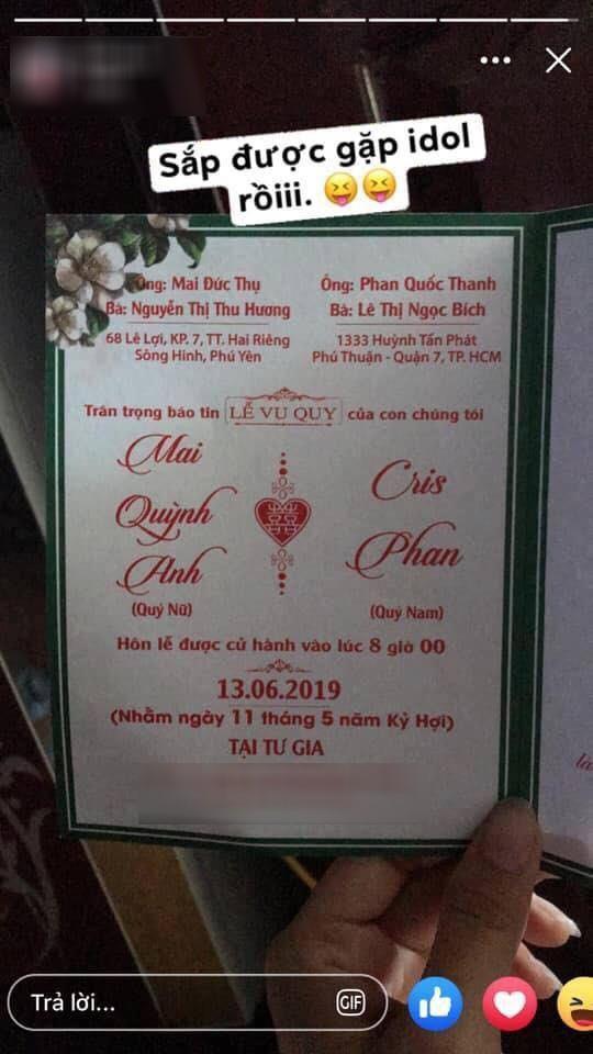 Thắc mắc bên lề đám cưới: Ủa chứ viết thiệp mời cũng xài nickname, rốt cuộc Cris Phan tên thật là gì vậy? - ảnh 1