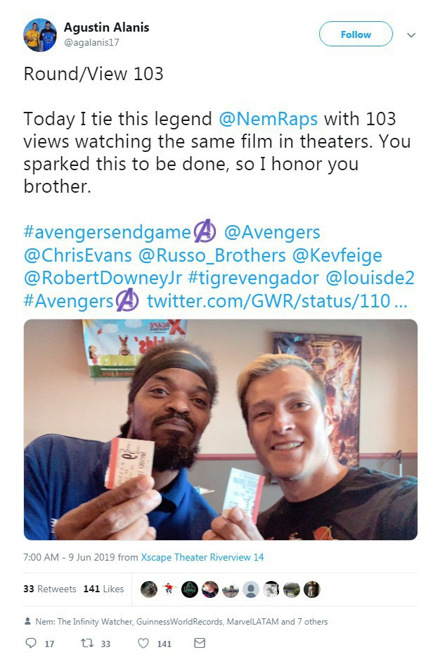Fan Marvel phá kỷ lục Guinness nhờ 110 lần ra rạp xem Endgame - ảnh 2