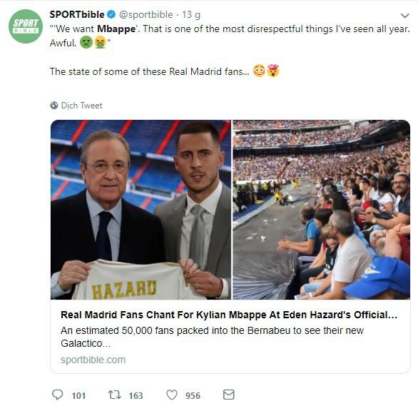 Có Eden Hazard nhưng vẫn muốn Mbappe, CĐV Real Madrid bị cả cộng đồng bóng đá mạt sát - ảnh 3